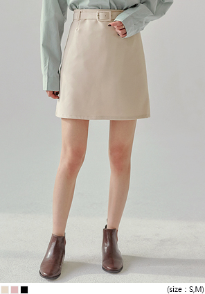[SKIRT] RUMI WRAP BELT SET MINI SKIRT