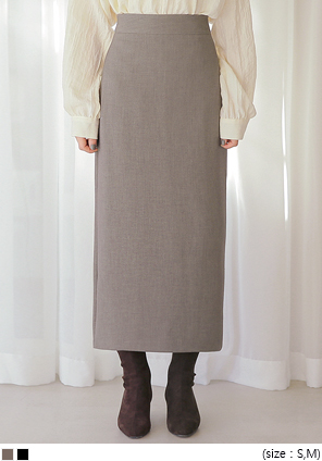 [SKIRT] ODEN BACK SLIT SPAN LONG SKIRT