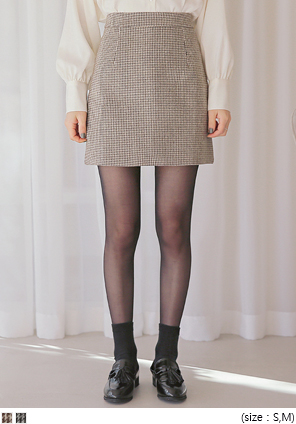 [SKIRT] BREEN WOOL HOUND CHECK MINI SKIRT