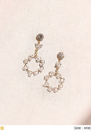 [JEWELRY] PURE CRYSTAL CIRCLE EARRING