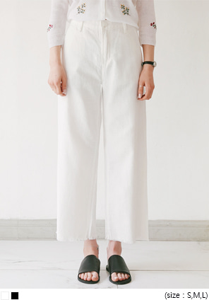 [BOTTOM] COTTON WIDE CUTTING PANTS