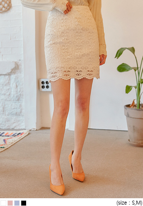 [SKIRT] TAMY LACE H LINE MINI SKIRT