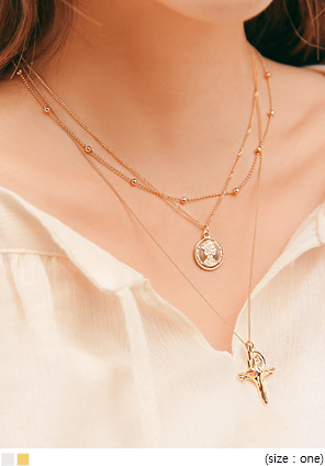 [JEWELRY] WEET COIN LAYERED NECKLACE
