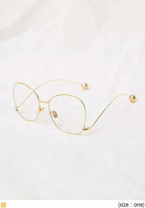 [ACC] RETRO GOLD GLASSES