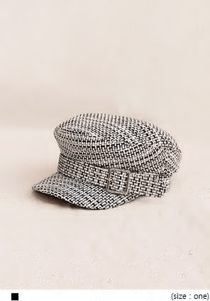 [ACC] FLANO TWEED BELT HUNTING CAP