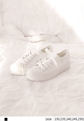 [SHOES] PLAIN COTTON SNEAKERS
