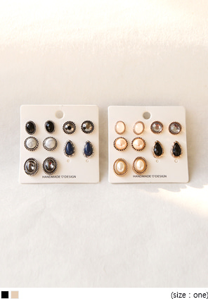[JEWELRY] 5 PIECE SET EARRING