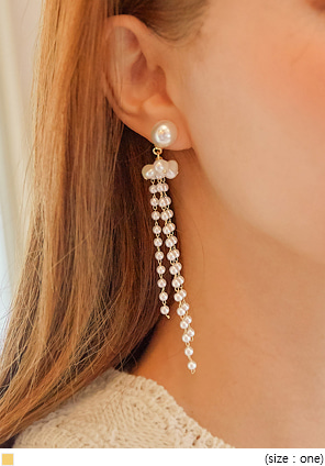 [JEWELRY] POMA PEARL UNBAL DROP EARRING