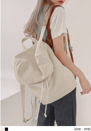 [BAG] NATURAL CANVAS BACKPACK