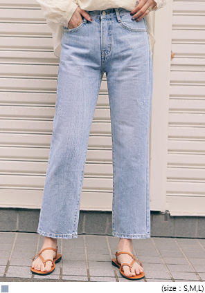 [BOTTOM] FORM STRAIGHT WIDE DENIM PANTS