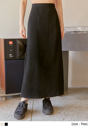 [SKIRT] KNOCK LINEN SET-UP LONG SKIRT
