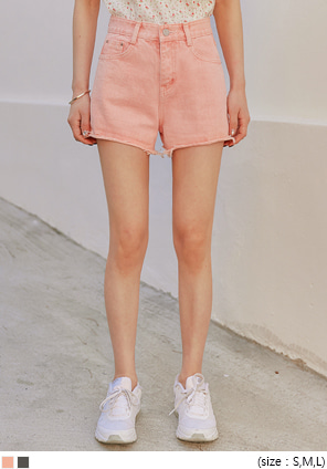 [BOTTOM] TOVE CUTTING DENIM SHORTS