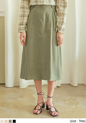 [SKIRT] MONID LINEN BANDING SKIRT