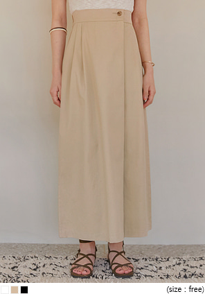 [SKIRT] BLOMOR PINTUCK COTTON LONG SKIRT