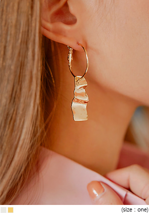 [JEWELRY] EDEN WAVE RING DROP EARRING