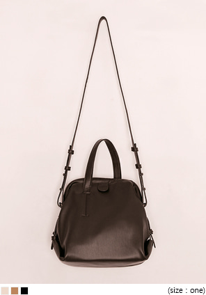 [BAG] GROMMET SQUARE LEATHER BAG