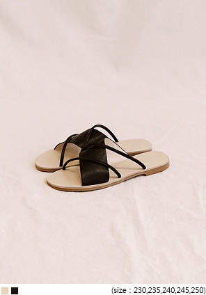 [SHOES] MARU 2 LINE UNBAL STRAP SLIPPER