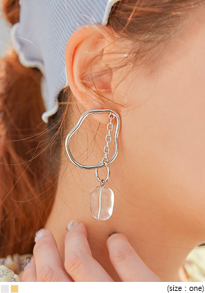 [JEWELRY] FIE DRAWING CHAIN DROP EARRING