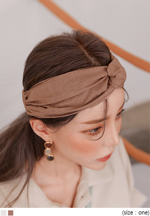 [ACC] CANS LINEN TWIST TURBAN