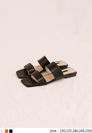 [SHOES] DELIGHT DOUBLE STRAP SLIPPER