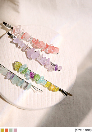 [ACC] HARY COLOR STONE HAIR PIN