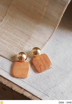 [JEWELRY] CARBON WOOD DROP EARRING