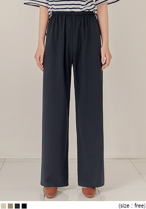 [BOTTOM] POLLING BANDING WIDE LONG PANTS