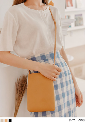 [BAG] DIARY BASIC SQUARE LEATHER MINI BAG