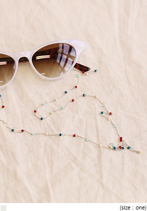 [ACC] TROY BEADS CHAIN GLASSES STRAP