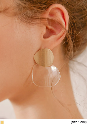 [JEWELRY] ALEXA GOLD CLEAR DROP EARRING