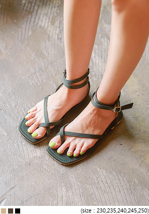 [SHOES] SLASH STRAP FLIP FLOP SANDAL