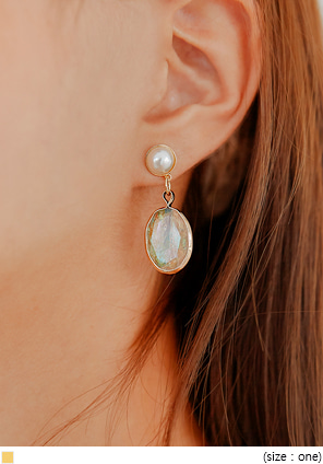 [JEWELRY] AURORA PEARL DROP EARRING