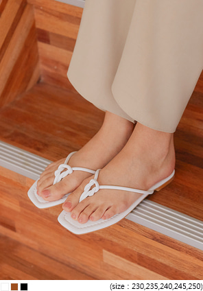 [SHOES] ARIANE TWIST FLIP FLOP SLIPPER