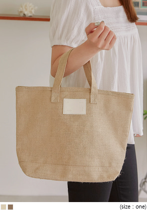 [BAG] ANTHONY LINEN PATCH TOTE BAG