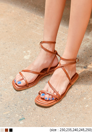 [SHOES] COLLING BUCKLE STRAP SANDAL