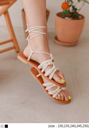 [SHOES] SOLZE NATURAL LACE-UP SANDAL