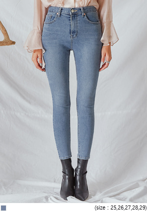 [BOTTOM] BORO WASHING DENIM SKINNY
