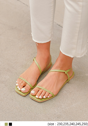 [SHOES] HAUL SQUARE STRAP SANDAL