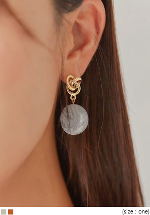 [JEWELRY] SILER MARBLE DROP EARRING