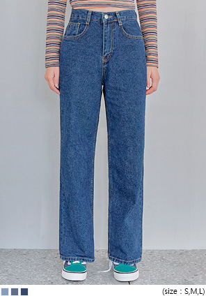 [BOTTOM] CANMORE WIDE DENIM PANTS