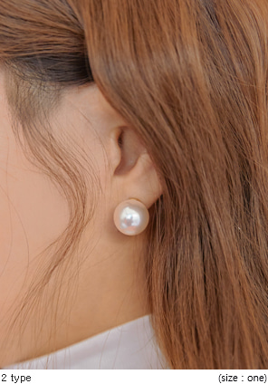 [JEWELRY] SIMPLE PEARL EARRING - 2 TYPE