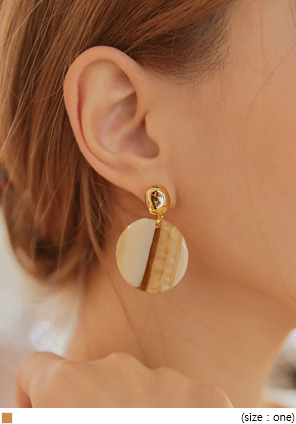 [JEWELRY] NOVER GOLD MARBLE DROP EARRING