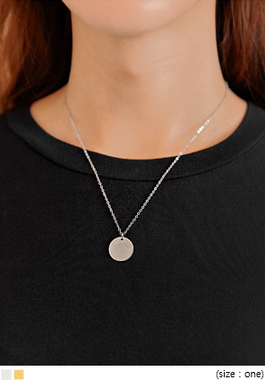 [JEWELRY] KOTI SIMPLE CIRCLE NECKLACE