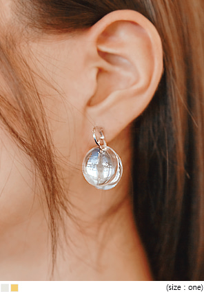 [JEWELRY] PRISM CIRCLE DROP EARRING