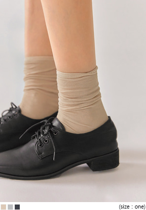 [ACC] SADE SEETHROUGH COTTON HIGH SOCKS