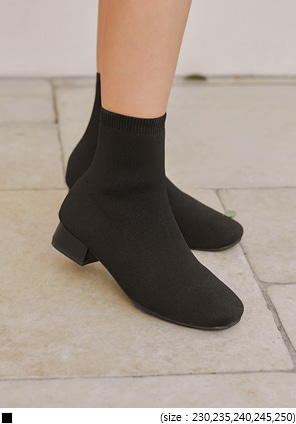 [SHOES] FAVE KNIT SOCKS ANKLE BOOTS