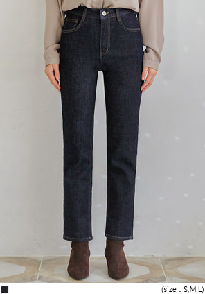 [BOTTOM] DEL NAPPING STRAIGHT DENIM PANTS