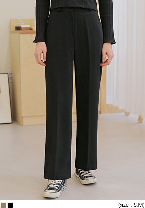 [BOTTOM] COOL SEMI WIDE SLACKS
