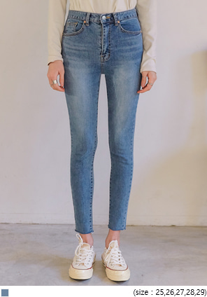 [BOTTOM] MILTON CUTTING DENIM SKINNY