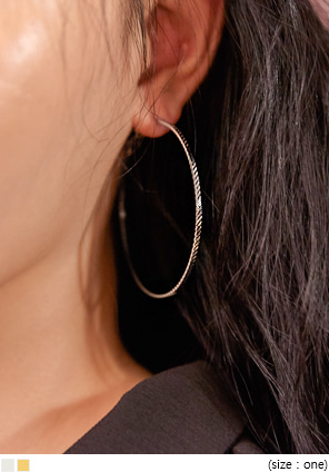 [JEWELRY] LOVIE BIG HOOP EARRING